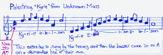 Unknown Kyrie by Palestrina