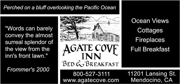 Agate Cove Inn ad for Mendocino Music Festival