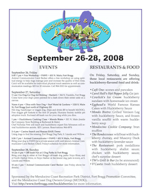 Program for Huckleberries and Hounds Festival