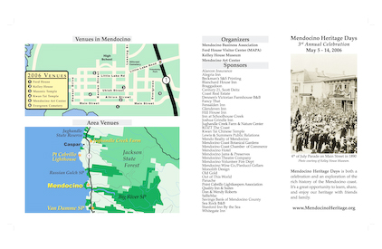 Brochure for Mendocino Heritage Days (Front)