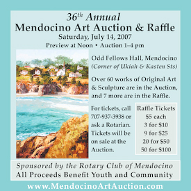 Magazine Ad for Mendocino Art Auction