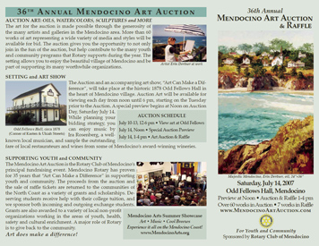 Brochure for Mendocino Rotary Art Auction (Front)