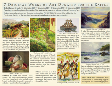 Brochure for Mendocino Rotary Art Auction (Back)