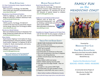 Family Fun Brochure for Mendocino Study Club (Front)