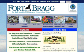 Screenshot from FortBragg.com