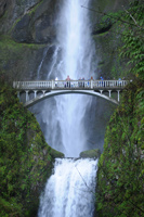 The bridge over Lower Multnomah Falls
