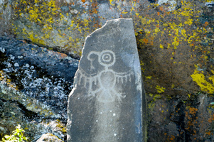 Petroglyphs at Horsethief Lake