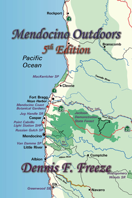 Front Cover of Mendocino Outdoors, 5th Edition