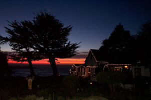 Christmas Lights at Agate Cove Inn, Mendocino