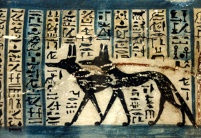 Jackals and Egyptian Hieroglyphics, British Museum
