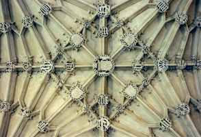 Detail from an Oxford Ceiling, England