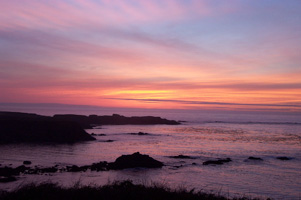 Sunset at Agate Cove Inn, Mendocino